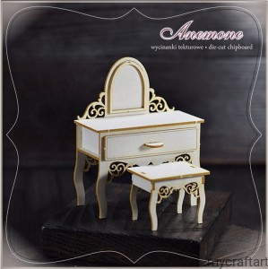 DRESSING  TABLE WITH A  STOOL