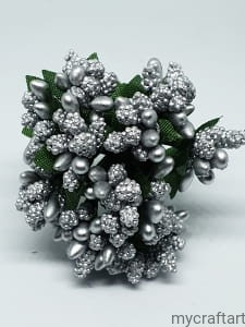 BUNCH OF STAMENS SILVER 12pcs