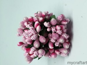BUNCH OF STAMENS LIGHT PINK 12pcs