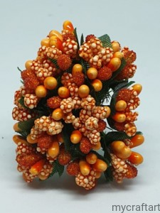 BUNCH OF STAMENS ORANGE 12pcs