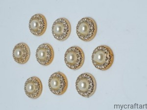 Gold pearl 10 psc