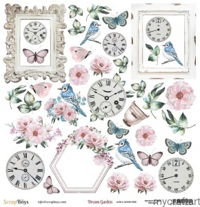 Dream Garden scheet die cut I