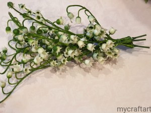 Lily of the valley twig 3 pcs