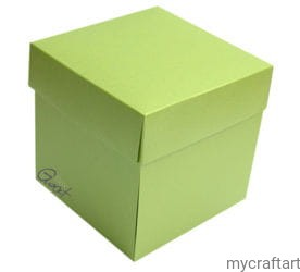 EXPLODING BOX GREEN PEARLS 10X10X10CM BASE  GOATBOX