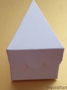 CAKE box - 1 pcs  - colour white