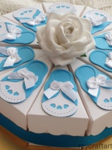 CAKE box - colour white -10 set