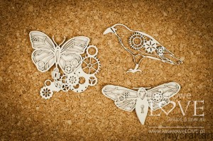 Butterfly, moth and crow - Steampunk Heaven