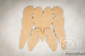 Hdf - Elongated heart with wings