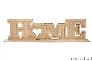 Hdf - HOME inscription on the stand