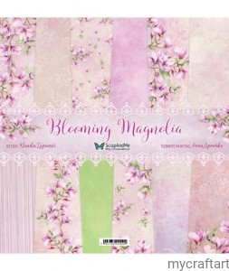Blooming Magnolia paper set 12X12