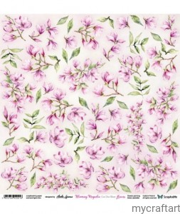 Blooming Magnolia Flowers - cutting sheet