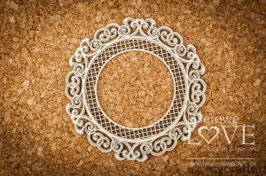 Round frame with ornaments - Vintage Ornaments