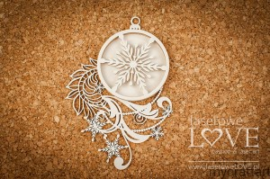 Christmas ornament with shaker box chains - Shabby Winter