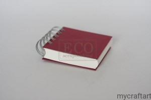 Notebook on a spiral - mini dark red