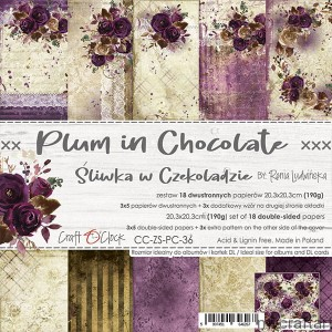 PLUM IN CHOCOLATE - 20cmx20cm set