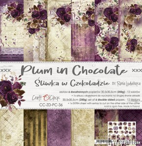 PLUM IN CHOCOLATE - 12x12 set