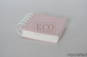 Notebook on a spiral -light  pink