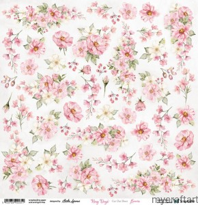 Rosy Days Flowers cut out sheet