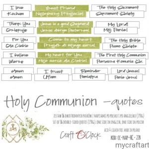 HOLY COMMUNION - NAPISY - DIE - CUTS