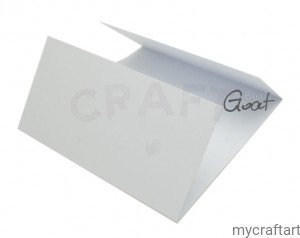 CARD WINDOW 15x15cm WHITE MAT GoatBox
