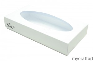 DL box white open oval HIGH 22x11x4cm