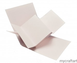 The base of the card TWIST POP UP  pink 15 cm